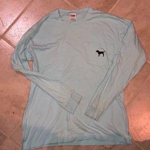pink oversized longs sleeve shirt